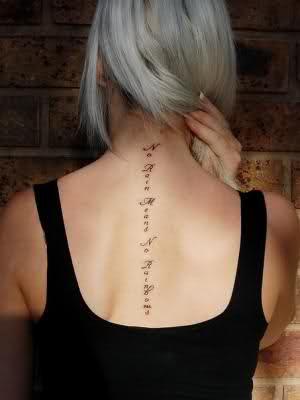 Quotes Tattoos Down Spine QuotesGram