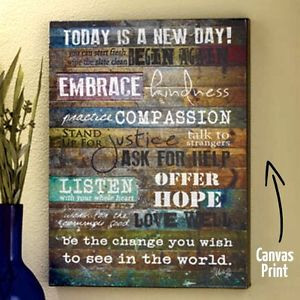 Canvas-Wall-Art-Inspirational-Quote-Wood-Frame-Print-Decor-Love-Hope ...