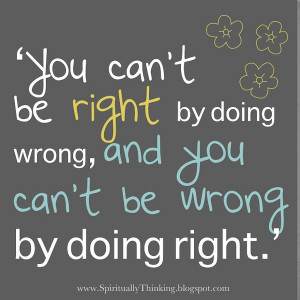Words to Live By: Right and Wrong