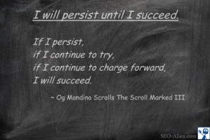 will persist until I succed