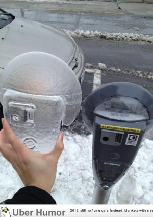 Winter almost gave me a parking ticket… glad I could put in the ...