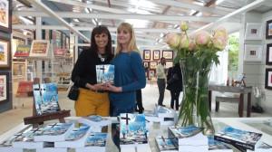 Juanita and Sandy Adams, her editor