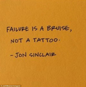 ... in an Instagram post on Wednesday by posting a quote from Jon Sinclair