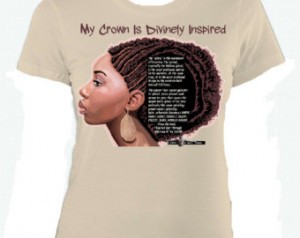 Natural Hair Pride T Shirt: African American Divine Spirals with Quote ...