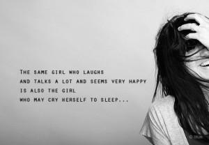 The Girl Who May Cry Herself To Sleep