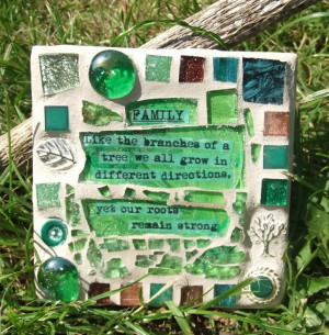 Family Tree inspired inspirational Quote - Mosaic Mini Plaque ...
