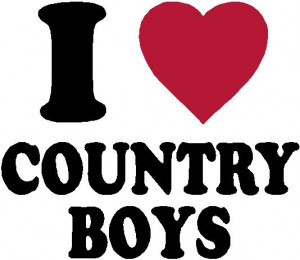 Love Country Boys Decal
