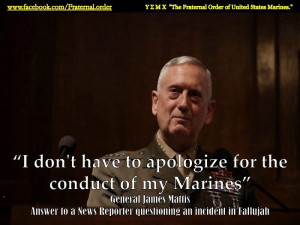 Re: Report: Obama Administration may push General Mattis Out