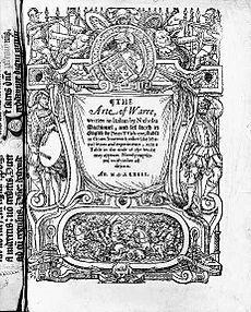 Frontispice de la traduction anglaise de L'Art de la guerre de Nicolas ...