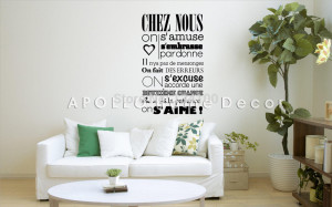 creative-Famous-quote-In-this-house-of-French-version-vinyl-quote-wall ...