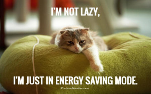 not lazy, i'm just in energy saving mode Picture Quote #1