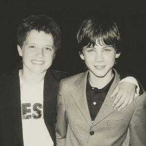 Josh Hutcherson and Logan Lerman as kids. So flippin' adorable. ♥
