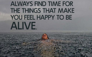 feel happy to be # alive