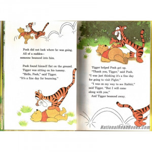 ... the pooh and tigger too disney book club a a milne Tigger Quotes