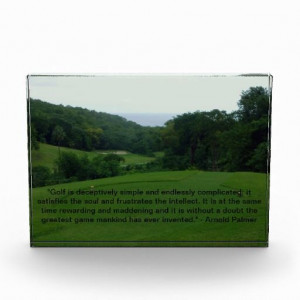 Stunning acrylic photo block with a famous quote by Arnold Palmer ...