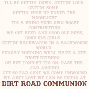 Dirt Road Communion~ Chase Rice