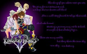 kingdom hearts ii wallpaper by kingdom hearts quotes love kingdom ...