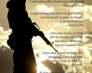Soldier Poem Print Military Army Navy Marines Air Force Coast Pictures