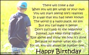 ... Quotes For Sons Birthday ~ Happy Birthday Son Quotes From Mom | quotes