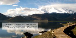Louis L'Amour Travel Quote