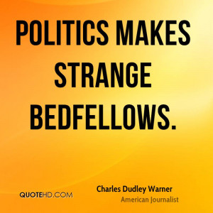 Charles Dudley Warner Politics Quotes