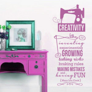 Color CREATIVITY Quote Life Hobby Sew Sewing Crafts Saying Vinyl ...