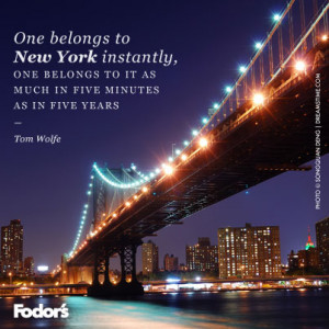 Travel Quote of the Week: On New York City