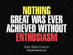 Ralph Waldo Emerson Quotes on Enthusiasm