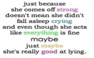 ... not mean she Did not fall asleep Crying – Crying Quote for Fb Share