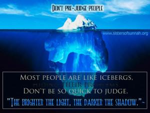 Dont be judgemental