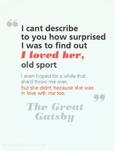 Quotes About Love The Great Gatsby : Great Gatsby Quotes About Love. QuotesGram