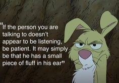 Winnie the Pooh. Rabbit quote