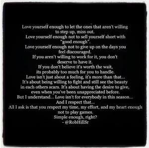 Rob Hill Sr love quote