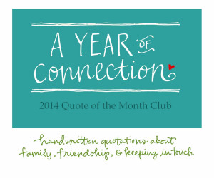 ... : One Year Subscription - Quote of the Month Club from lettergirl
