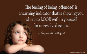 Being Offended Quote