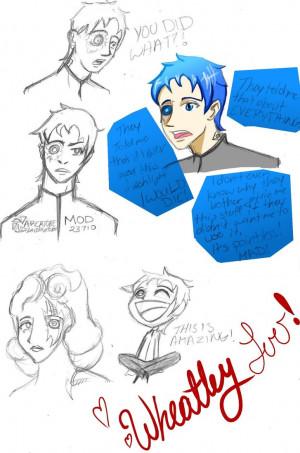 Portal 2: Wheatley Sketches by DiscombobulatedTrin