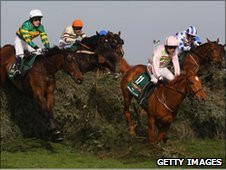 Tony McCoy left on Don 39 t Push It in the Grand National