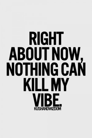 kill my vibe. I'm in a great place in my life, have a beautiful happy ...