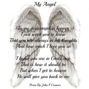 My Angel To My Dear Angel In Heaven