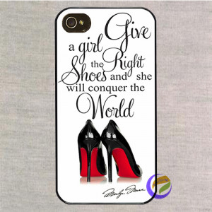 Marilyn Monroe Quotes shoes fashion phone case cover for iphone 5 5S 4 ...