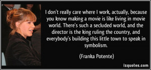 More Franka Potente Quotes