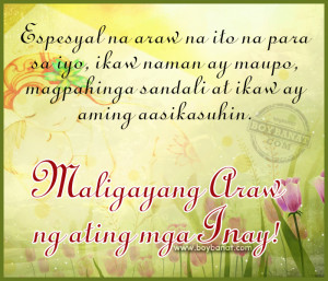 Tagalog Mother's Day Quotes and Pinoy Happy Mother's Day Sayings