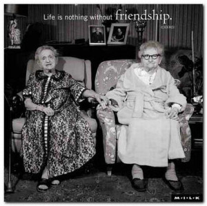 Life is nothing without friendship