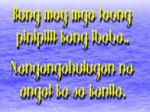 Tagalog Quotes Para Sa Mga Insecure. QuotesGram