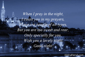 Good Night Prayer Quotes