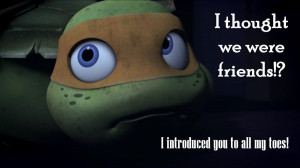 am watching the new TMNT episodes again and again and I can't wait ...