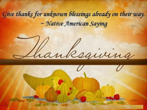 Meaning Thanksgiving Sayings For Cards
