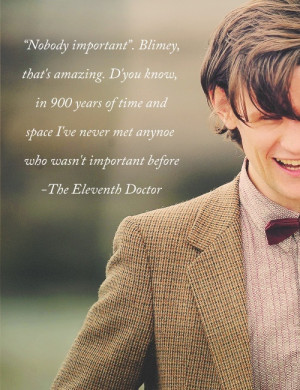 One of the Eleventh Doctor's best quotes
