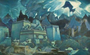 The Last of Atlantis, by Nicholas Roerich 1928 or 1929 Private ...