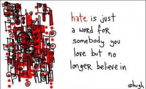 funny, hate, illustration, love, quote, words, yeah